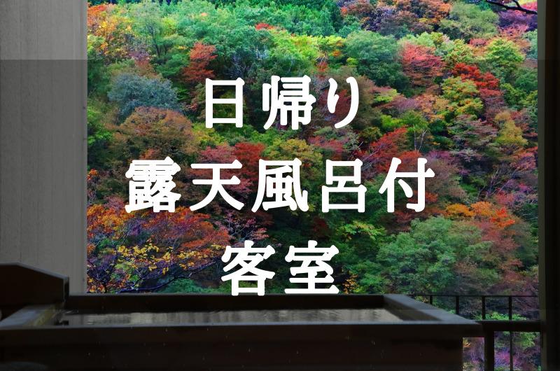 【関東】日帰り温泉 露天風呂付き客室のあるホテル・旅館・宿